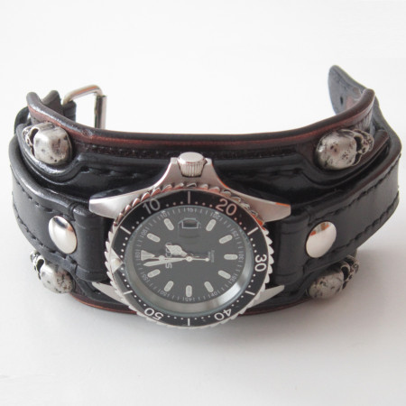 nomad bikers steelhorse society biker watches product products image chronograph